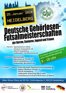 Plakat DM-Futsal 2014