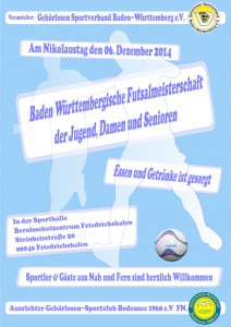 Plakat Futsal GSC Bodensee