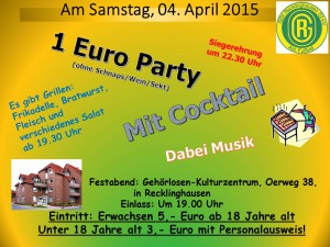 Fussball-Party am 04.04.2015 - Plakate