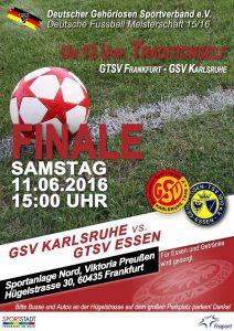 Plakat Endspiel 2016 Karlsruhe gg Essen